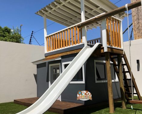 modern double story playhouse